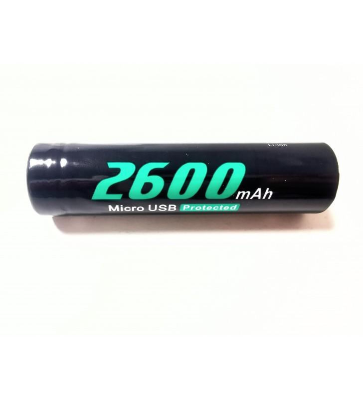 Soshine 18650 2600 mAh Micro USB 3,7V chránený