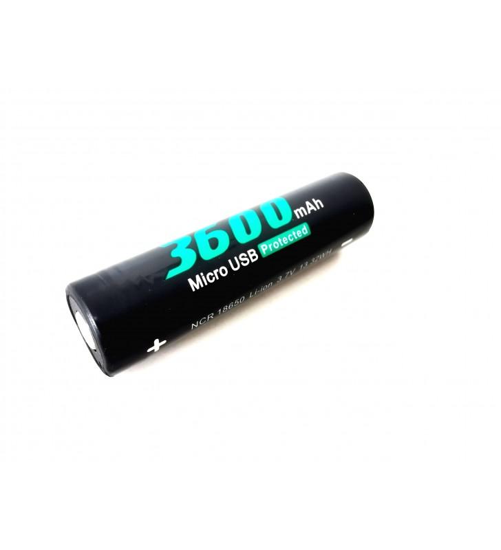 Soshine 18650 3600 mAh Micro USB 3,7V chránený